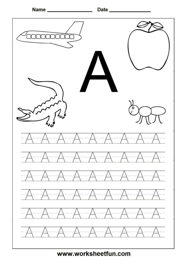 Free Printable Alphabet Tracers |  Printable Page Tags Intended For Letter A Worksheets Preschool Free