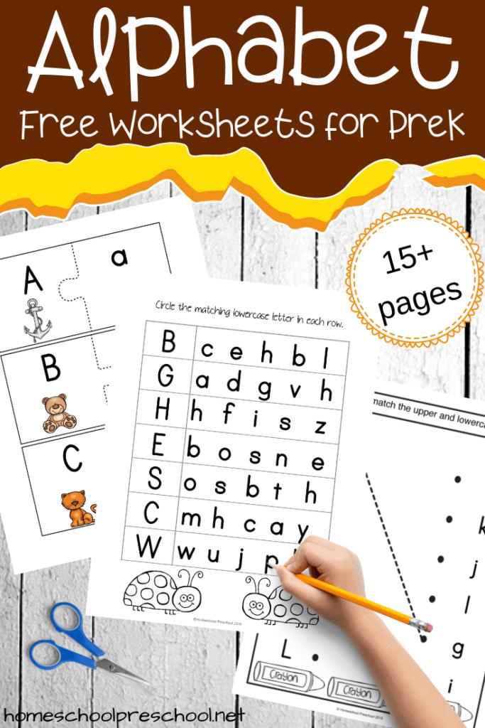 Free Printable Alphabet Worksheets For Preschoolers For Alphabet Worksheets To Download