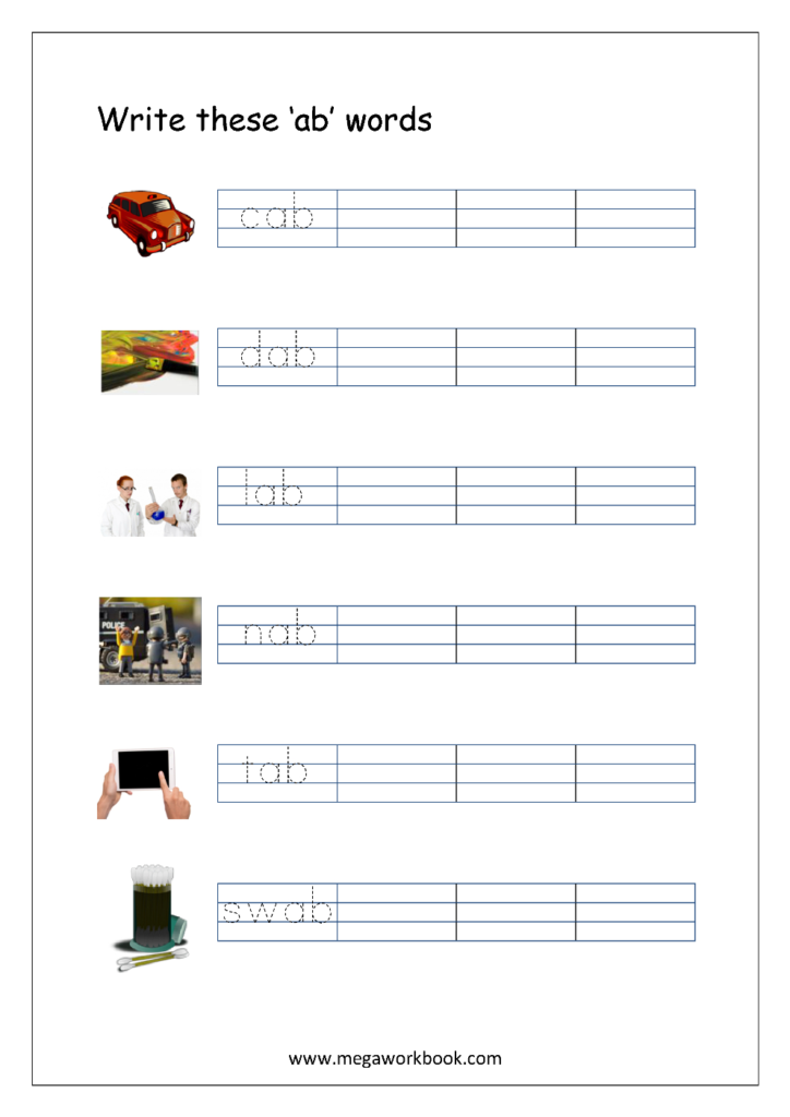 Free Printable Cvc Words Writing Worksheets For Kids   Three With 3 Letter Worksheets