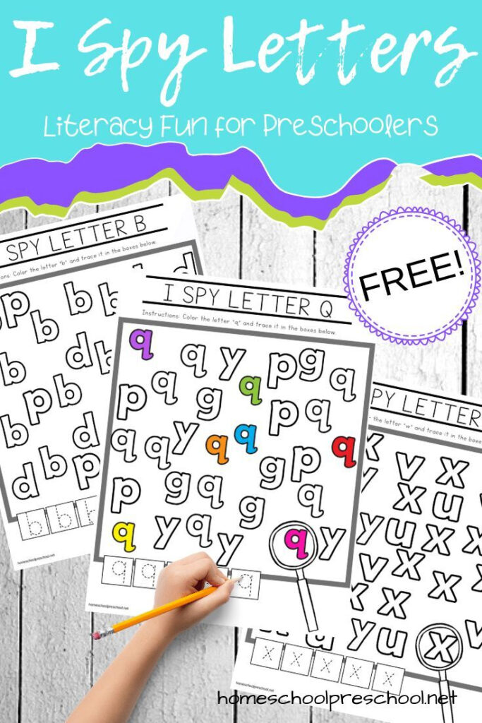 Free Printable I Spy Letters Alphabet Worksheets | Alphabet Regarding I Spy Alphabet Worksheets
