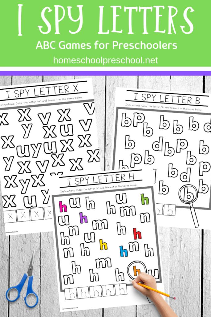 Free Printable I Spy Letters Alphabet Worksheets With Regard To I Spy Alphabet Worksheets