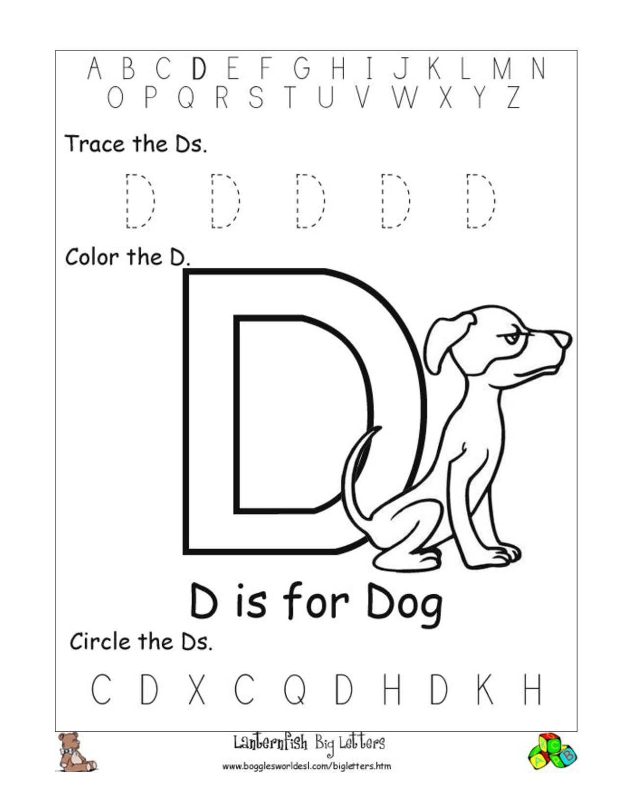 Free Printable Letter D Worksheets | Printable Worksheets regarding Letter D Worksheets Sparklebox