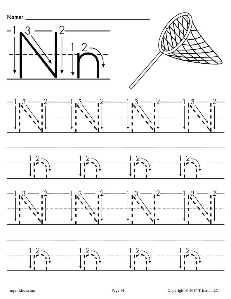 Free Printable Letter M Tracing Worksheet With - Liz for Letter M Tracing Page