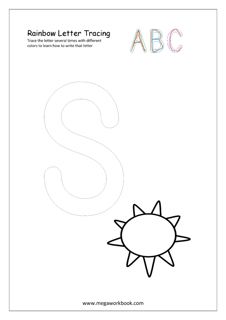 Free Printable Rainbow Writing Worksheets   Rainbow Letter Within Rainbow Name Tracing