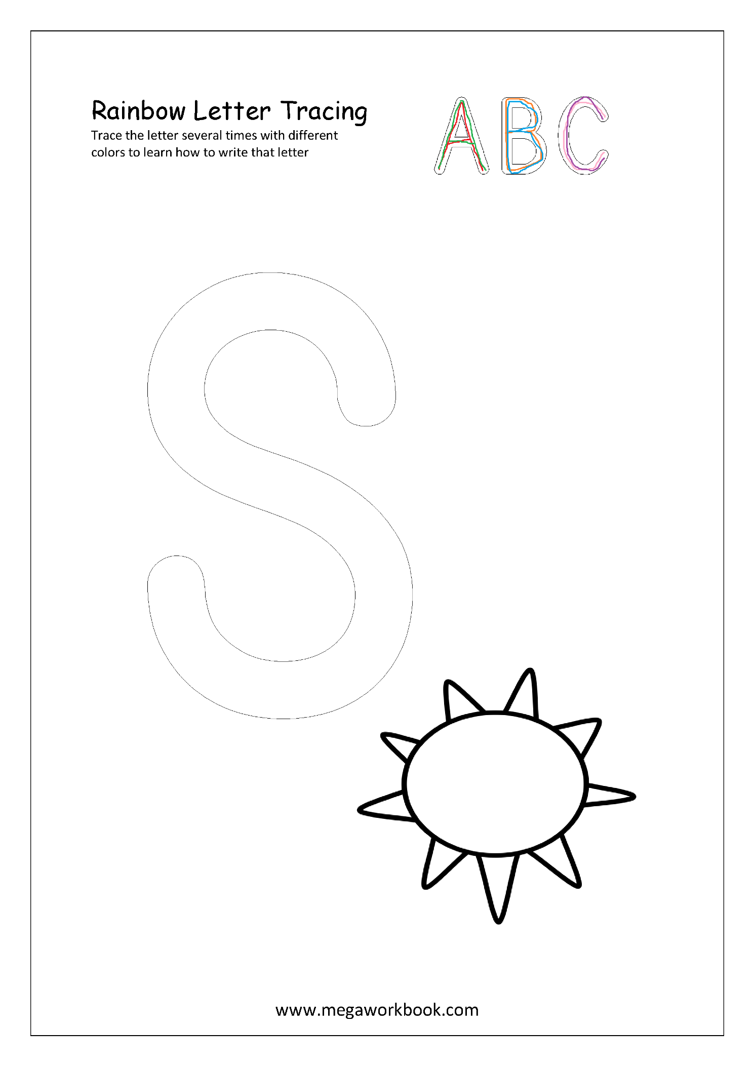 Free Printable Rainbow Writing Worksheets - Rainbow Letter within Rainbow Name Tracing