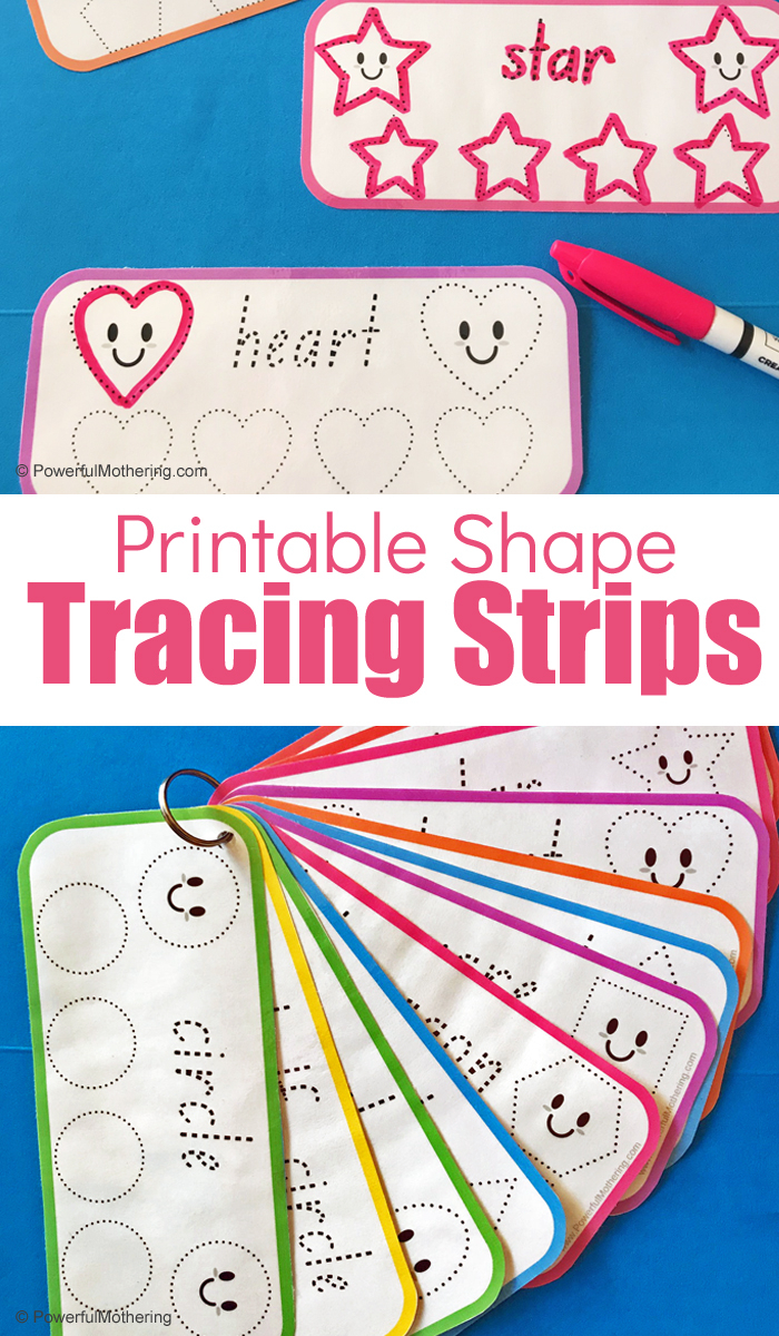 Free Printable Shape Tracing Strips For Preschoolers On The Go pertaining to Name Tracing Powerful Mothering