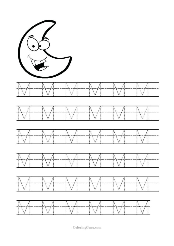 Free Printable Tracing Letter M Worksheets For Preschool With Regard To M Letter Worksheets