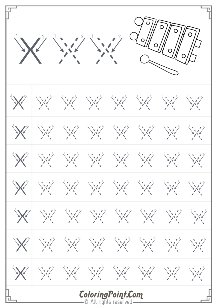 Free Printable Tracing Letter X Worksheets For Preschool Throughout Letter X Worksheets Pdf