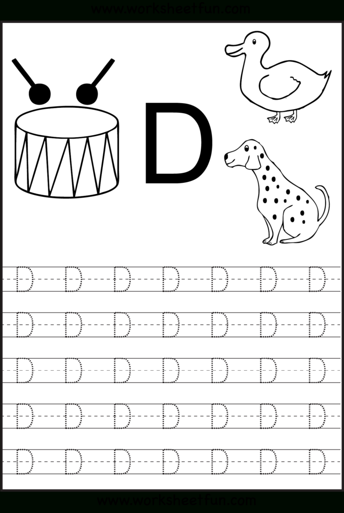Free Printable Worksheets   Contents | Alphabet Tracing In Alphabet D Tracing Sheet