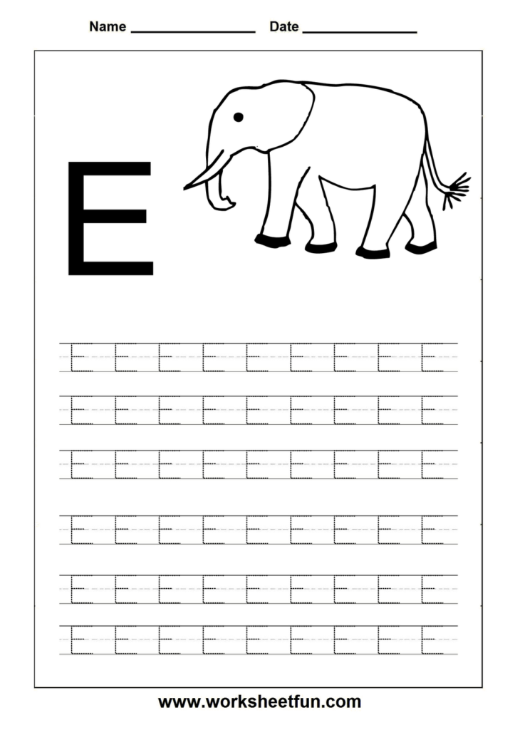 Free Printable Worksheets   Contents | Letter E Worksheets For Letter E Worksheets Tracing