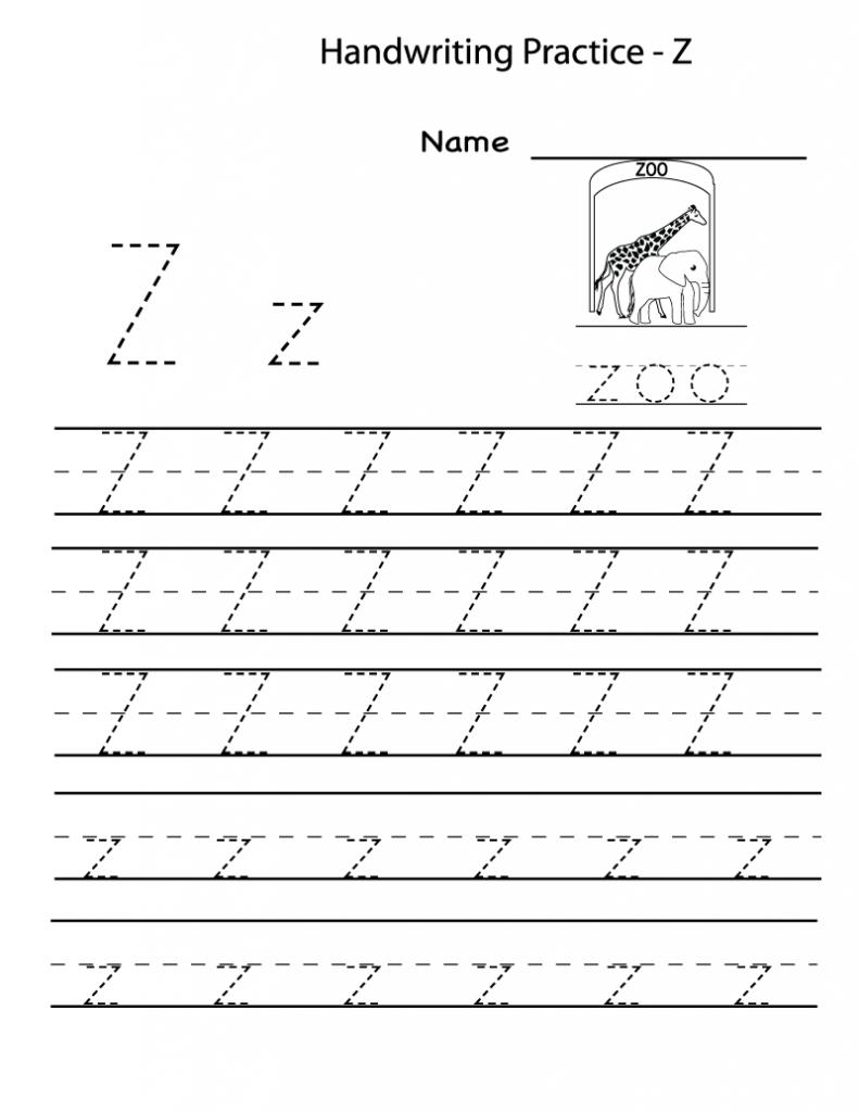 Free Printable Worksheets For Preschoolers For The Letter Z intended for Letter Z Worksheets For Prek
