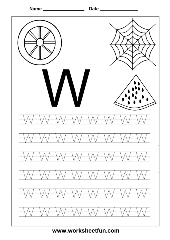 Free Printable Worksheets: Letter Tracing Worksheets For Throughout Letter W Tracing Printable