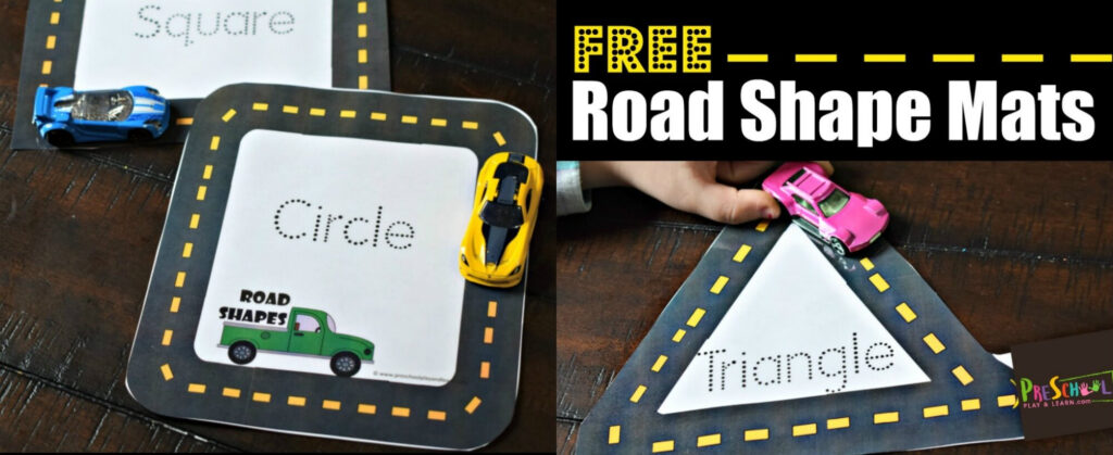 Free Road Shape Mats For Alphabet Road Tracing Book