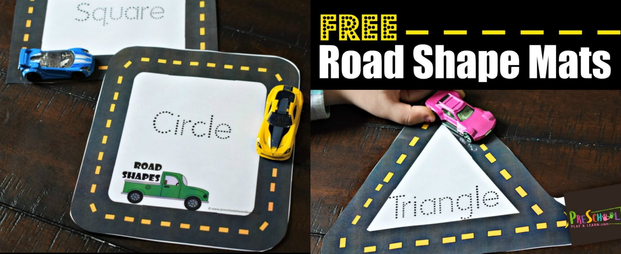 Free Road Shape Mats for Letter Tracing Roads