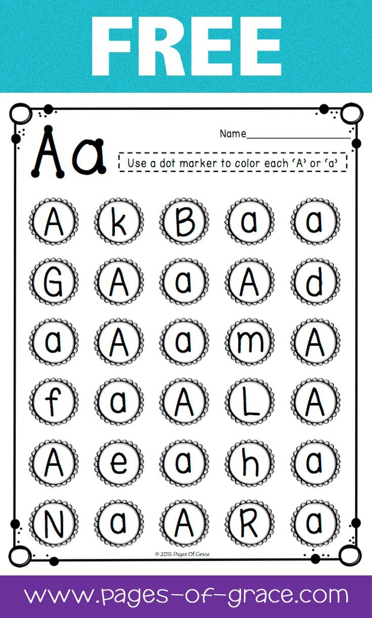 Free Uppercase & Lowercase Letter Recognition Packet with Letter Id Worksheets