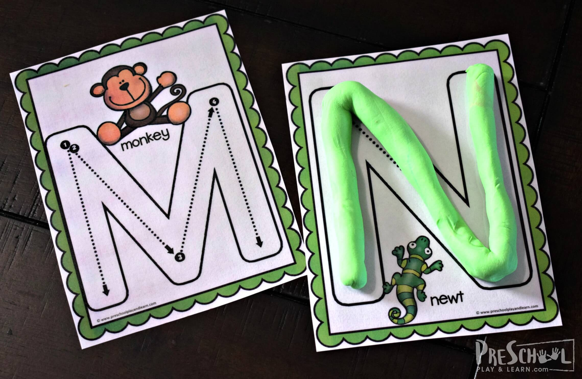 Free Uppercase Tracing Letters With Animals A-Z with Alphabet Tracing Cards
