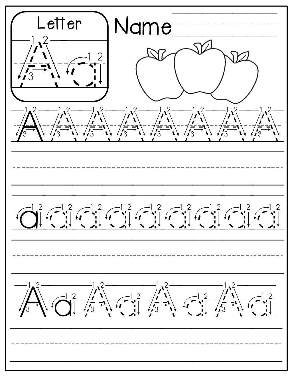 Freebie: A-Z Handwriting Practice Pages! | Kindergarten intended for Tracing Your Name Template