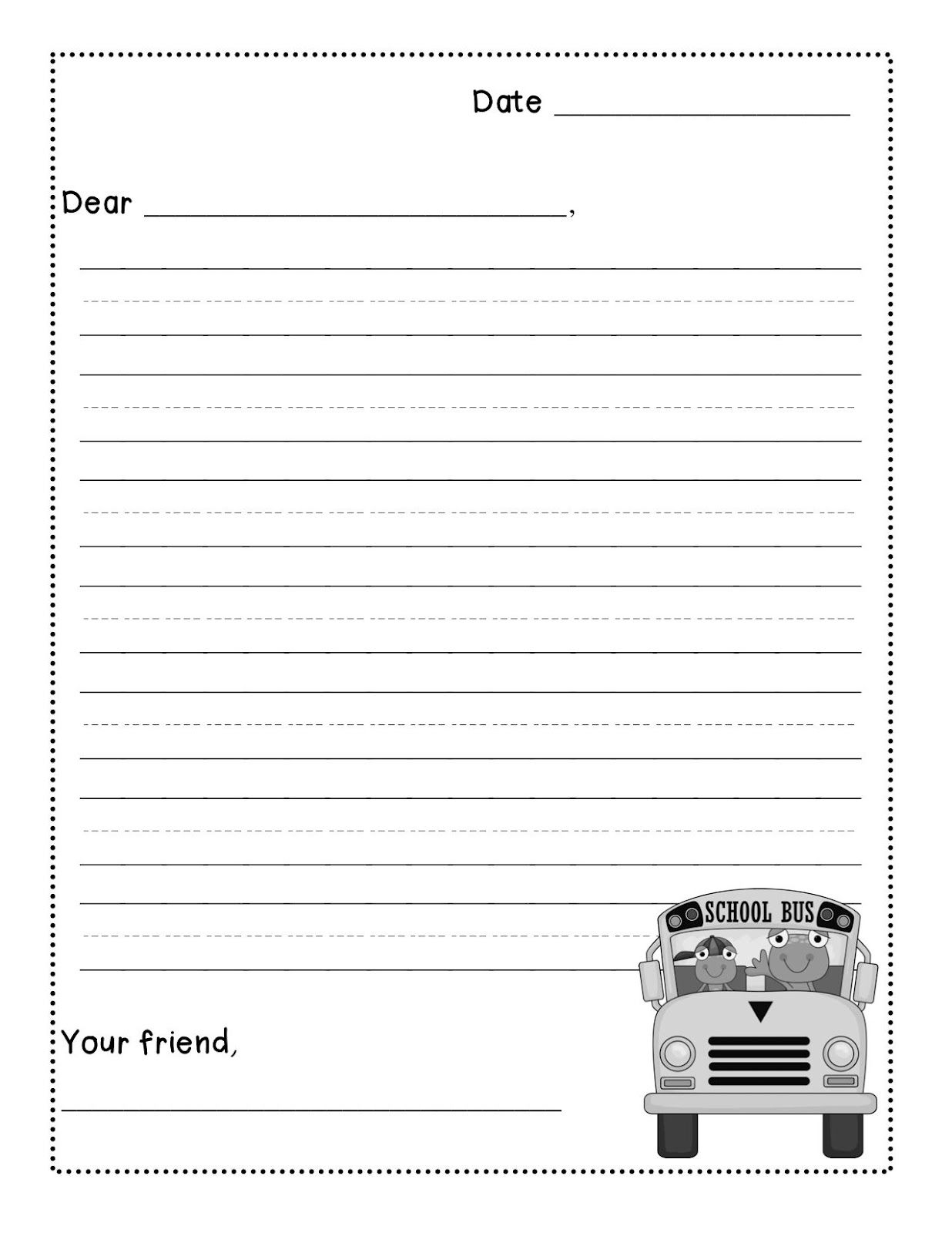 Friendly Letter Writing Freebie - Levelized Templates Up For throughout Letter Writing Worksheets For Grade 5