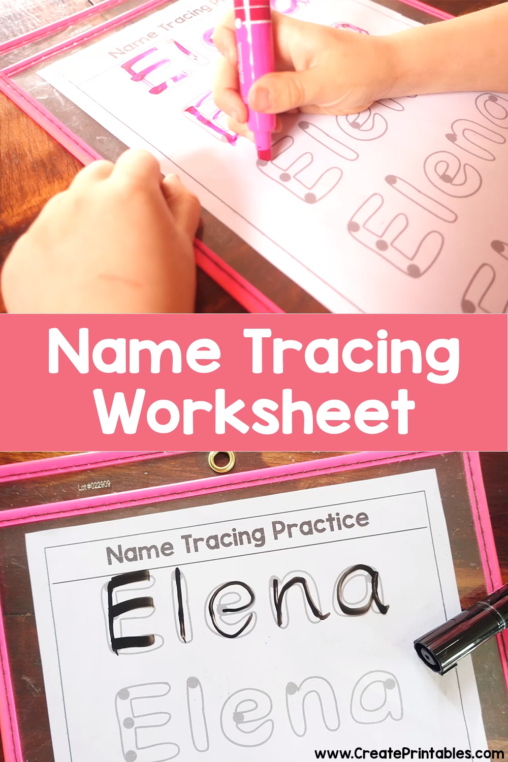 Get A Free Name Tracing Practice Worksheet With Your Childs within Pre K Custom Name Tracing