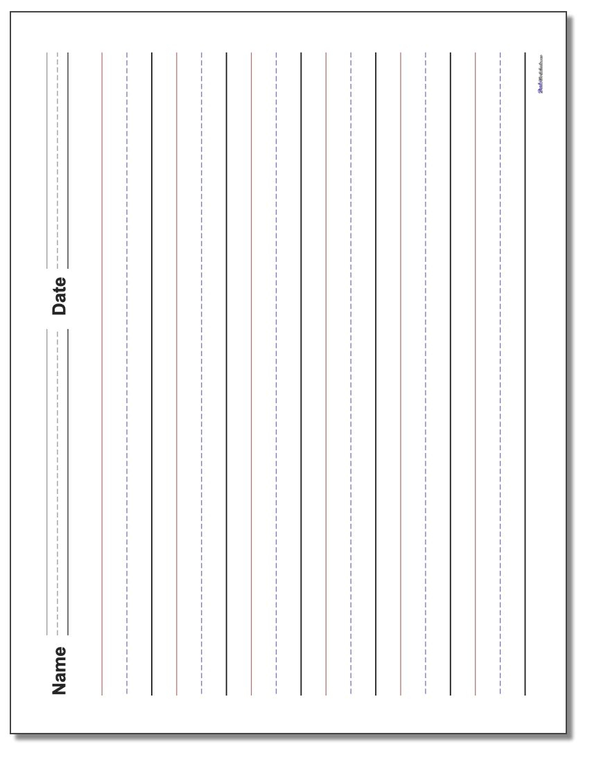 Handwriting Paper within Name Tracing With Blank Lines