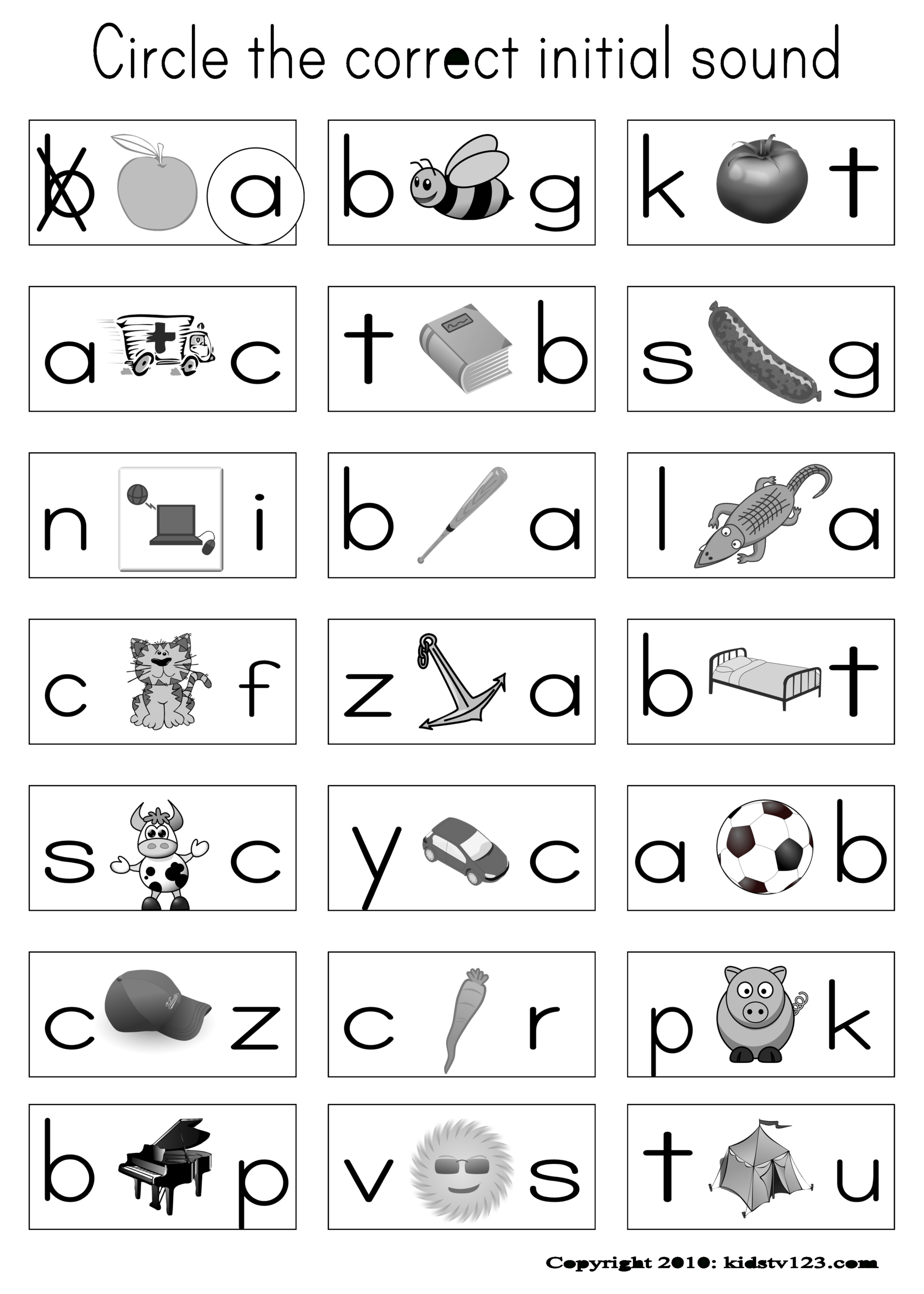 Have Pictures On Their Sheet And When I Say The Word In in Alphabet Phonics Worksheets For Kindergarten