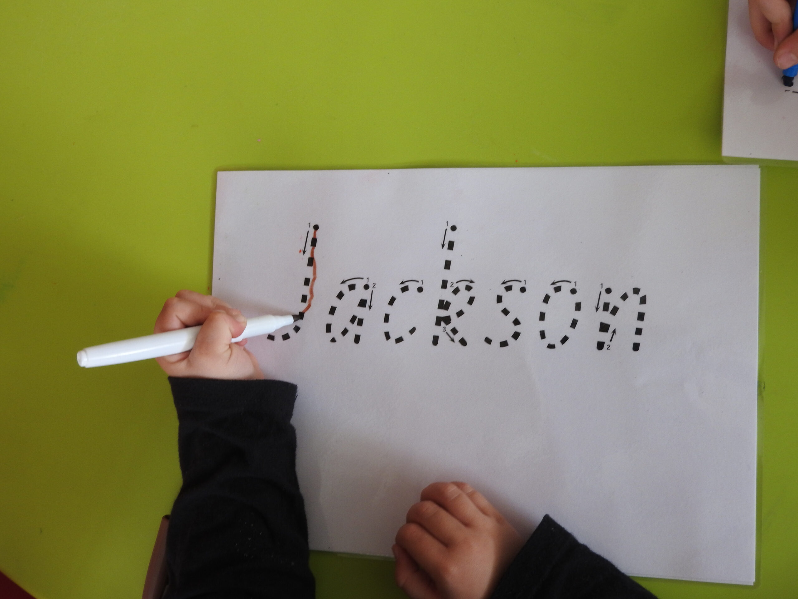 How Do I Teach My Child To Write Their Name? | One Stop in Name Tracing Template Qld Font