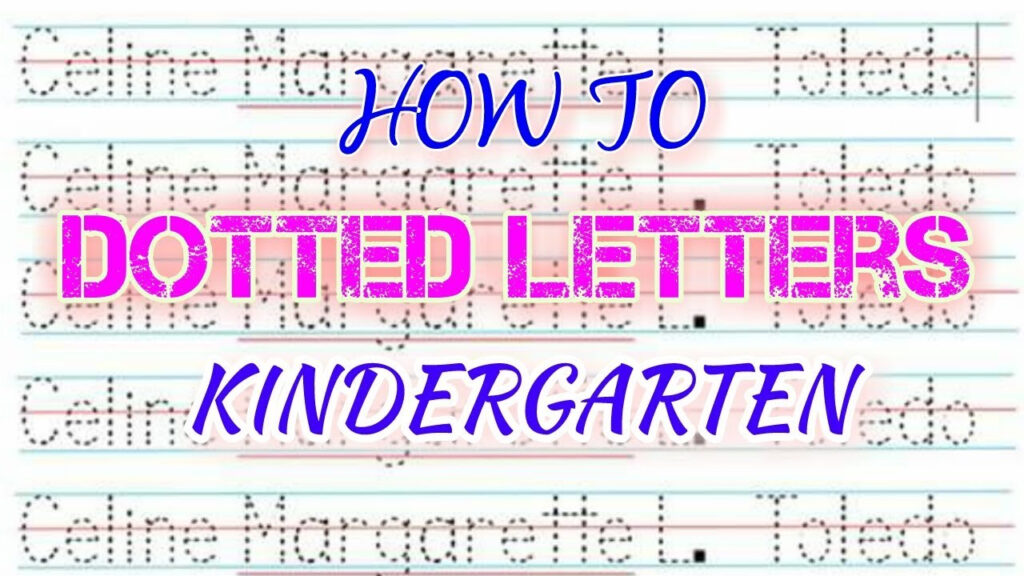 How To Make Dotted Letters (Tagalog )  Kindergarten Pertaining To Name Tracing Colored Lines