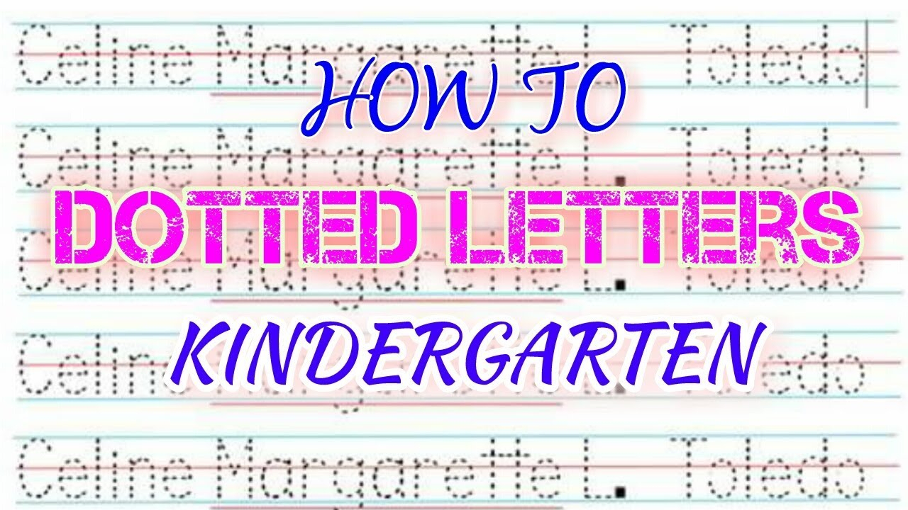 How To Make Dotted Letters (Tagalog )- Kindergarten pertaining to Name Tracing Colored Lines