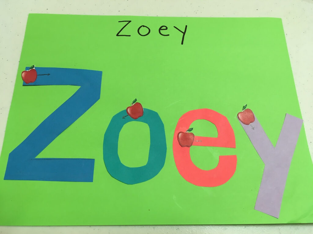 How To Teach Your Preschooler To Write Their Name   Amazing Pertaining To Zoe Name Tracing