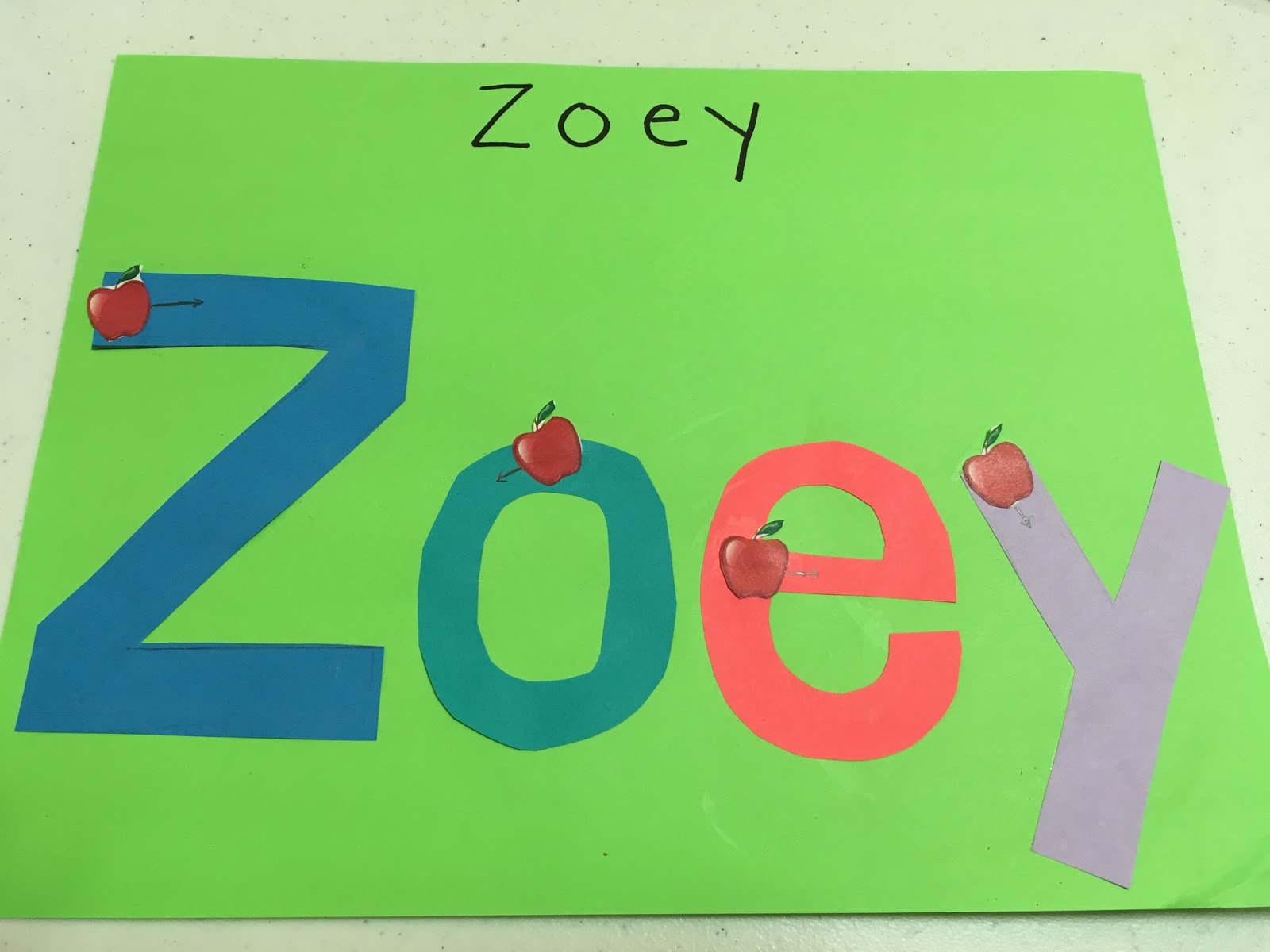 How To Teach Your Preschooler To Write Their Name - Amazing pertaining to Zoe Name Tracing