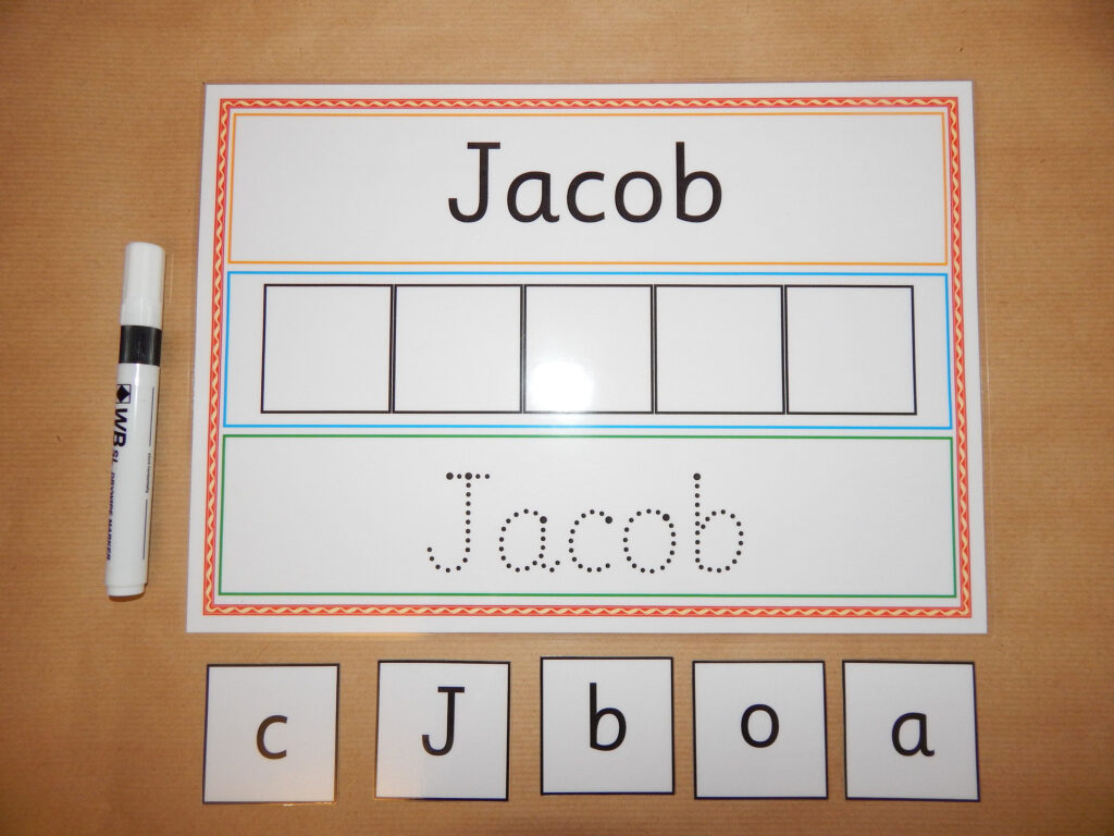 I Can Write And Spell My Name   Personalised Name Card Regarding Name Tracing Jacob