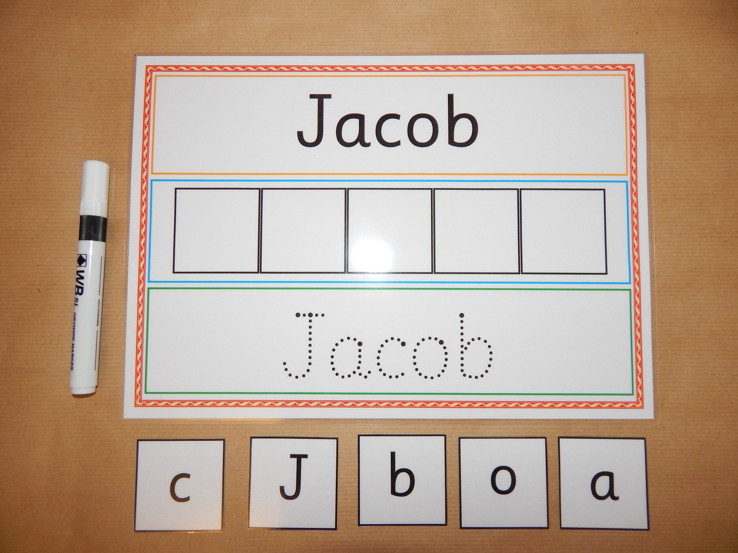 I Can Write And Spell My Name - Personalised Name Card regarding Name Tracing Jacob