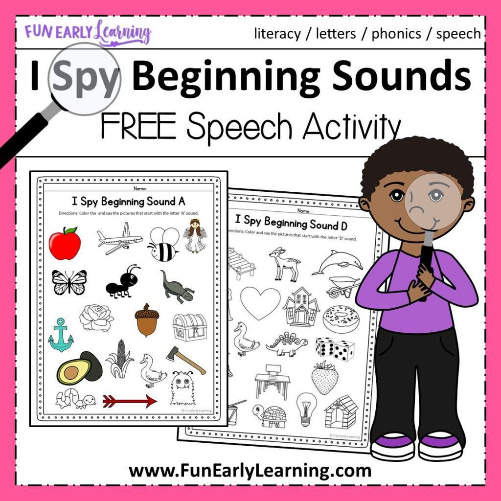 I Spy Beginning Sounds Regarding I Spy Alphabet Worksheets