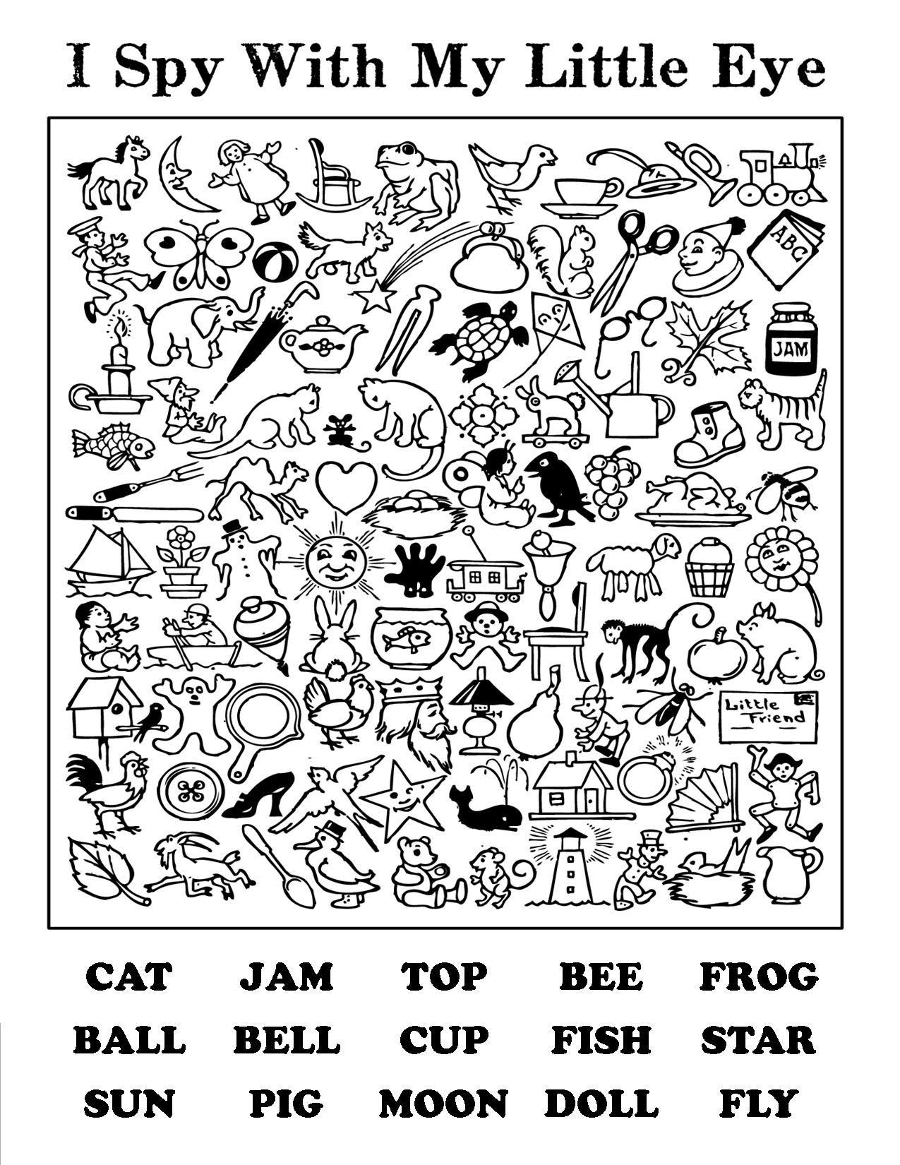 I Spy Printable Worksheets That Are Stupendous | Jackson Website with I Spy Alphabet Worksheets