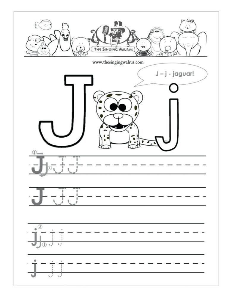 I Words For Preschool Letter I Words For Preschool Concept Inside Letter J Worksheets Printable