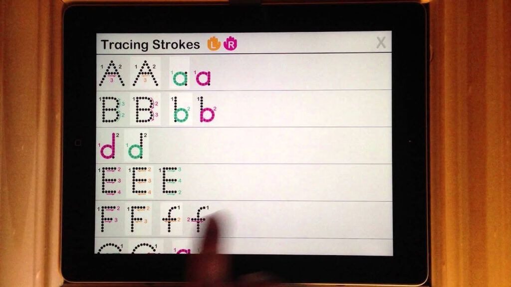 Interactive Alphabet   Tracing Left Hand Stroke Customizations. Intended For Alphabet Tracing On Ipad