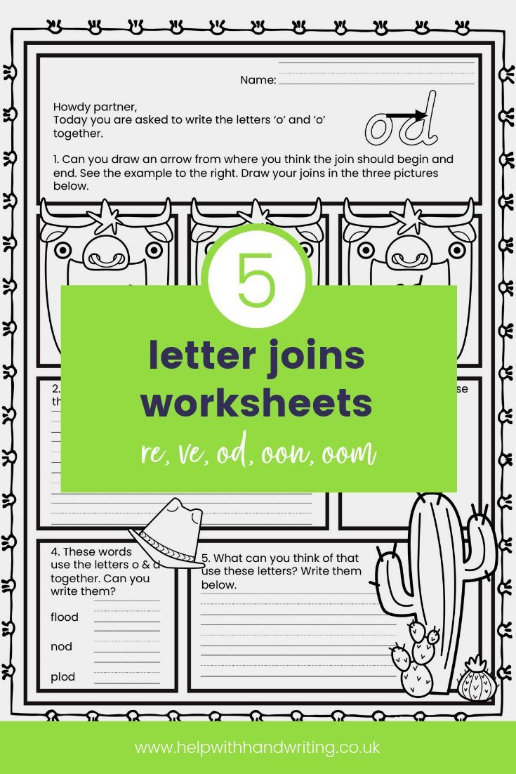 Is Your Child Struggling To Know Where And How To Join inside Letter Join Worksheets