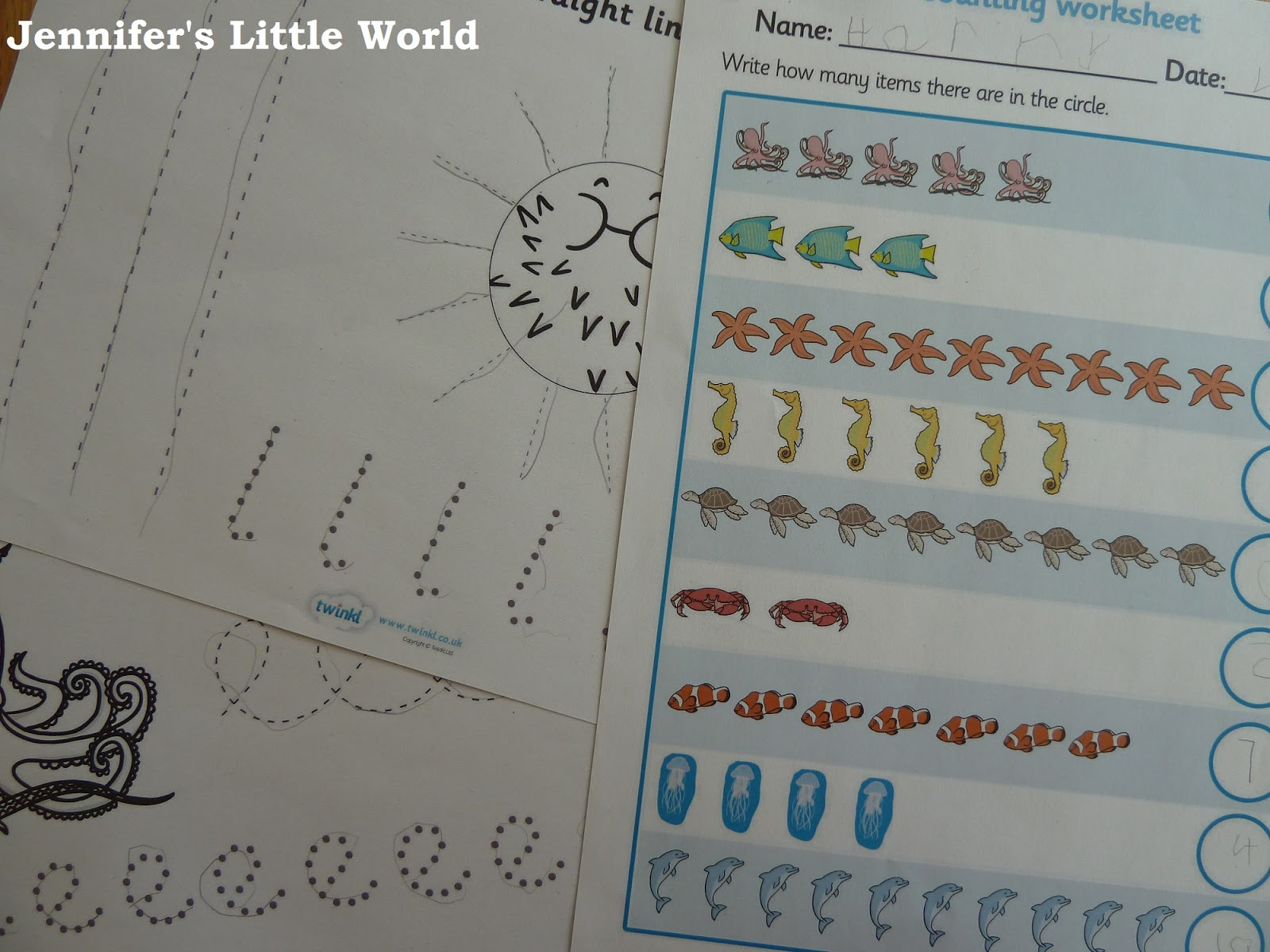Jennifer's Little World Blog - Parenting, Craft And Travel for Name Tracing Twinkl