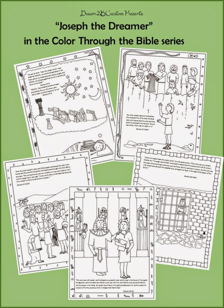 Joseph The Dreamer Coloring Pages Part 1   Drawn2Bcreative Pertaining To Name Tracing Joseph