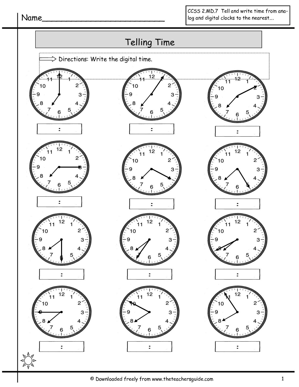 Kids Are Asked To Read The Hands On The Clocks And Write The throughout Alphabet Worksheets Kidslearningstation