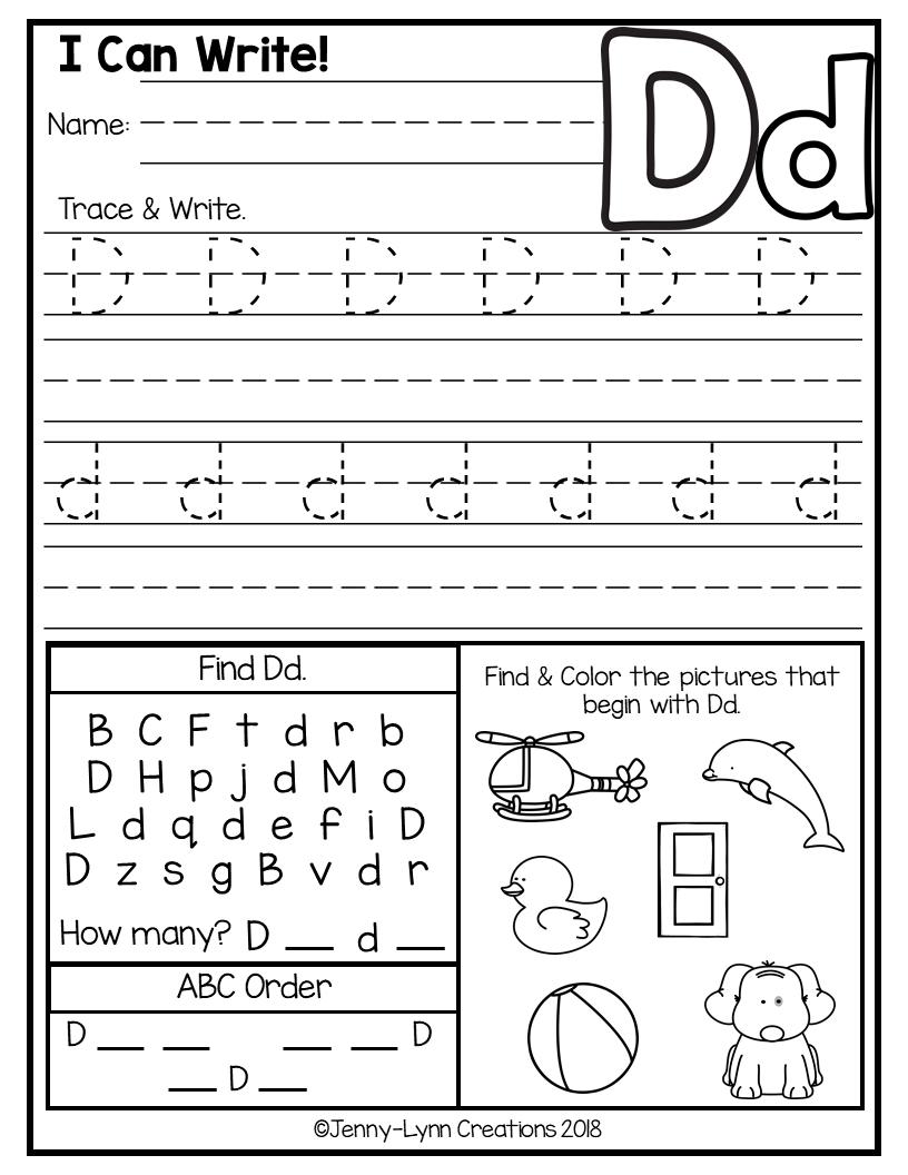 Kindergarten Abc Worksheets | Abc Worksheets, Kids Math throughout Alphabet Worksheets For Preschool