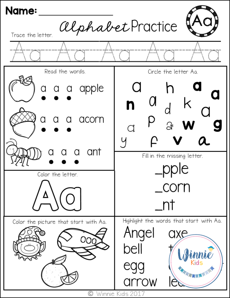 Kindergarten Alphabet Practice   Kindergarten Alphabet Inside Alphabet Practice Worksheets For Kindergarten