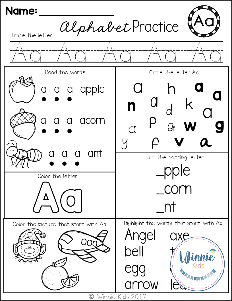 Kindergarten Alphabet Practice | Kindergarten Alphabet throughout Letter Id Worksheets