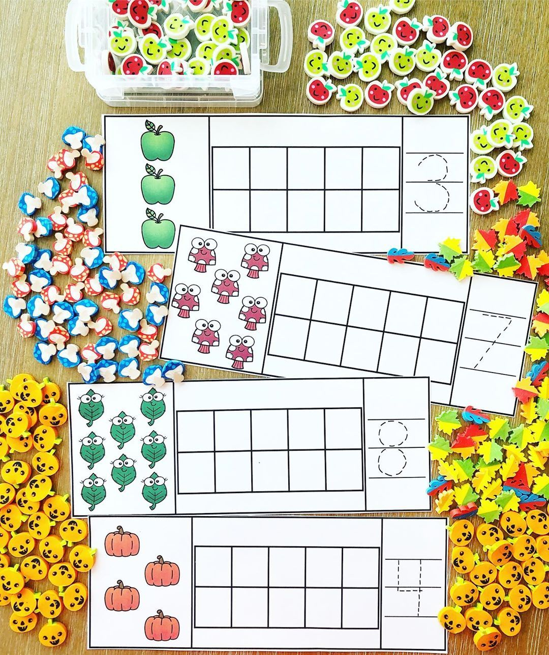 "Kindergarten • Math • Subitize On Instagram: ""Count, Build regarding Alphabet Tracing Board Target"