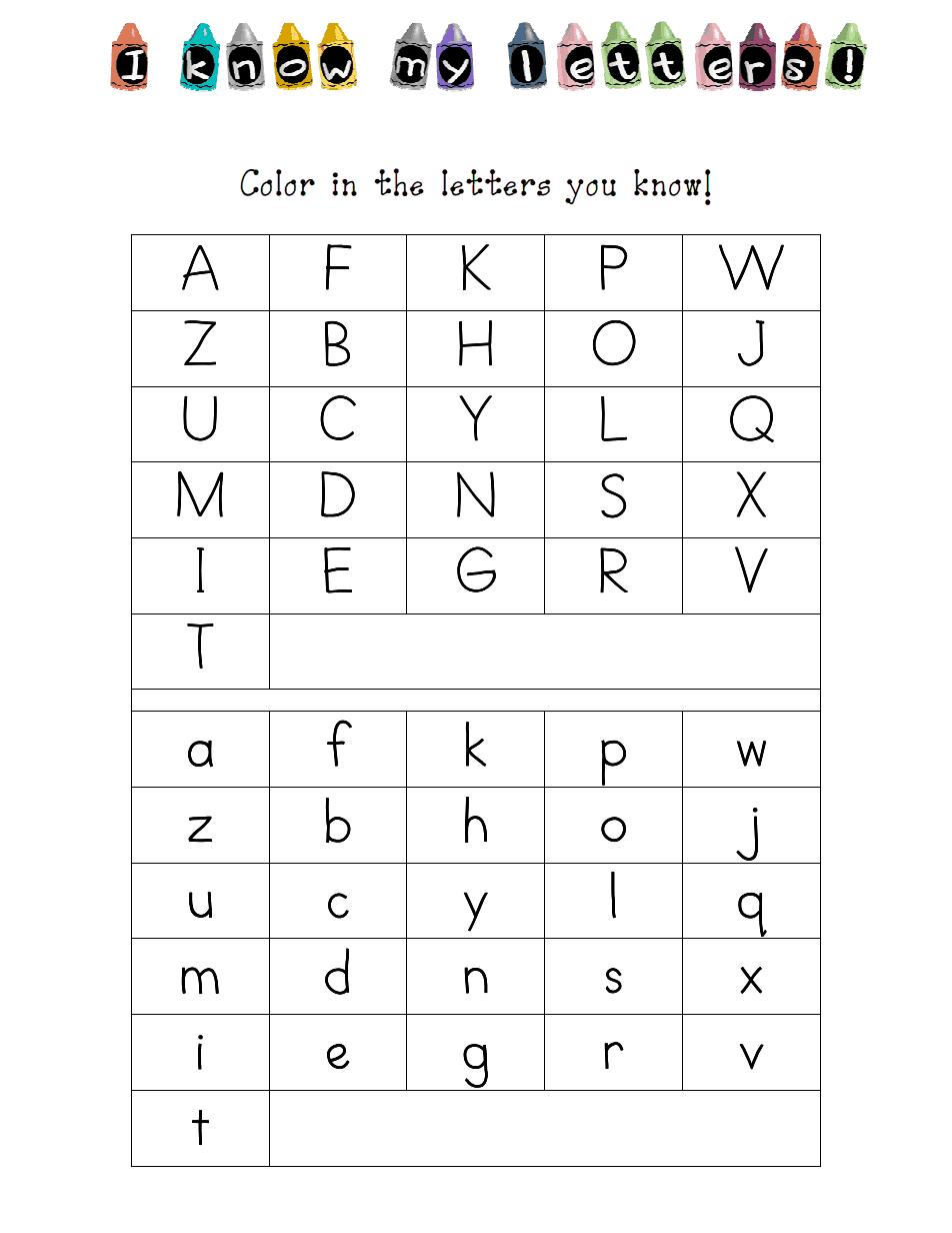 Kindergarten Letter Id Assessment.pdf | Kindergarten Letters regarding Letter Identification Worksheets Pdf