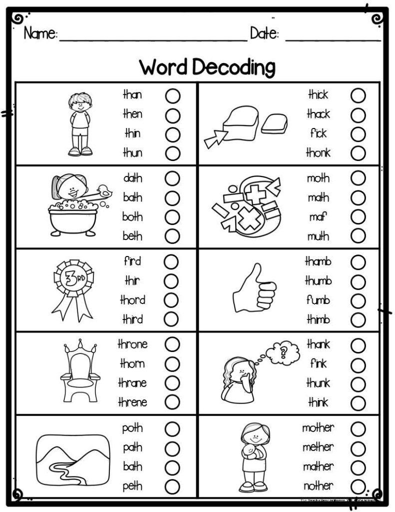 Kindergarten Word Decoding Practice Worksheets & Assessments Pertaining To Letter K Worksheets 1St Grade