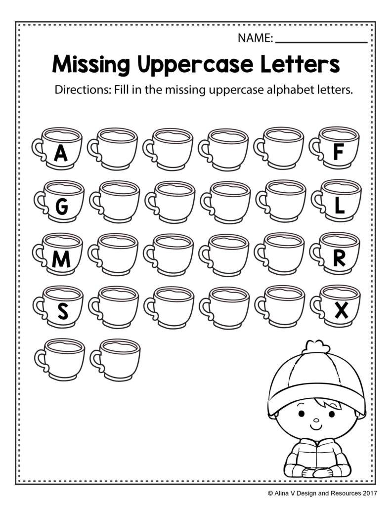 Kindergarten Worksheets Missing Letters Intended For Letter G Worksheets Twisty Noodle