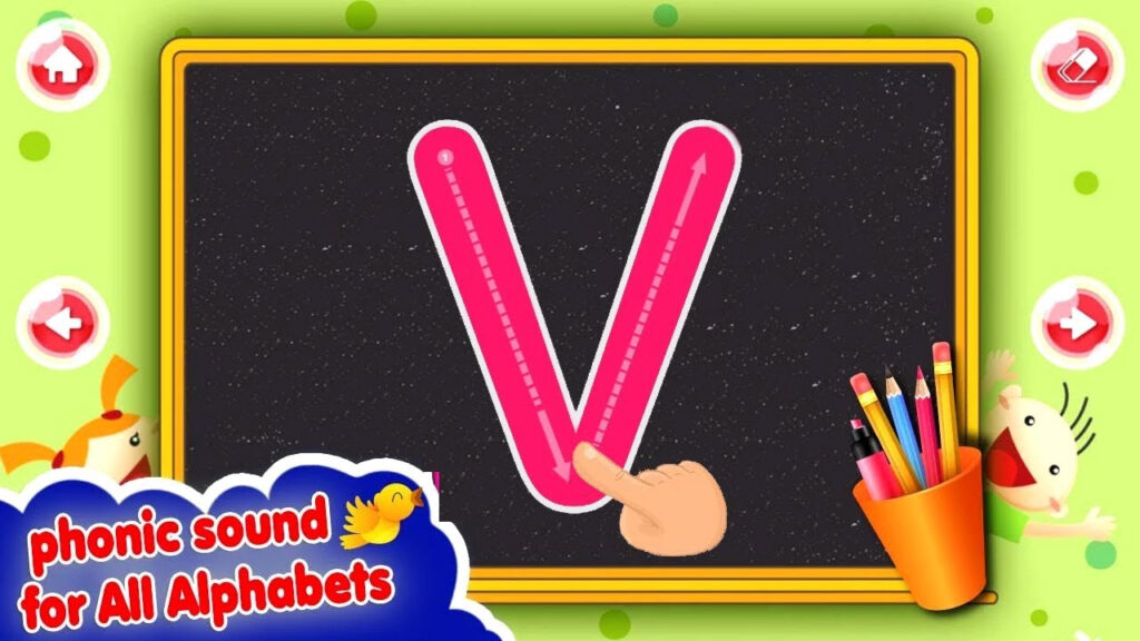 Learn Alphabets A To Z With Abc 123 Tracing For Toddlers Preschool  Educational Game For Kids Throughout Abc 123 Tracing