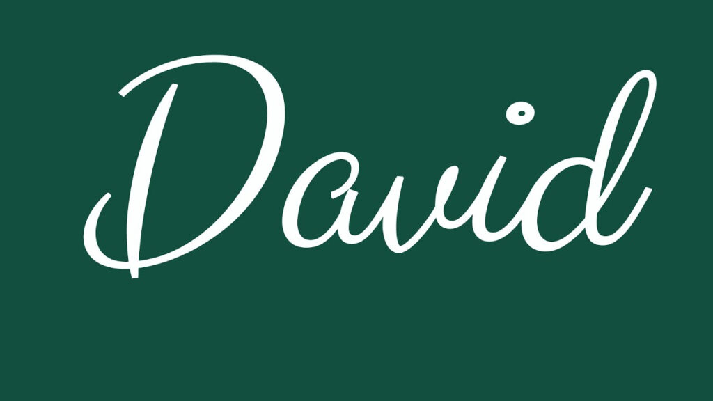 Learn How To Sign The Name David Stylishly In Cursive Writing With Regard To Tracing Name David