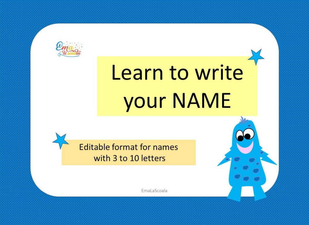 Learn To Write Your Name, Editable Format For Name Tracing Intended For Name Tracing Program